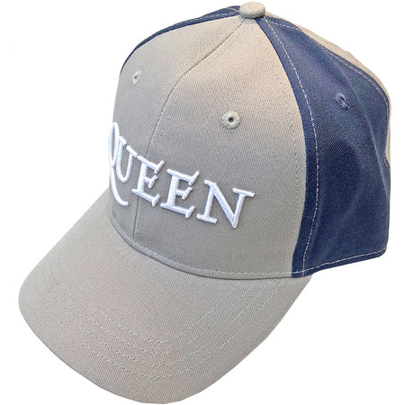 Queen -  Logo - 2 Tone-Grey and Navy OSFA Baseball Cap