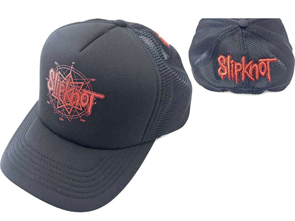 Slipknot - Red Logo - Black OSFA Mesh Back Baseball Cap