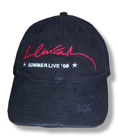 Paul McCartney-Summer Live 2009 Logo Distressed Black Baseball Cap