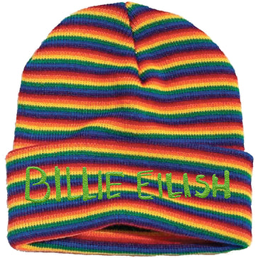 Billie Eilish -  Logo - Stripes Ski Cap Beanie
