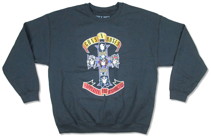 Guns N Roses -  Cross -Crew Neck Sweatshirt