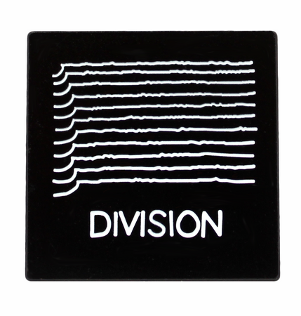 Joy Division-Unknown Pleasures Take off- Division Enamel Pin