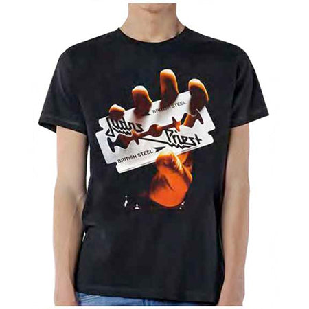Judas Priest-British Steel-Black t-shirt
