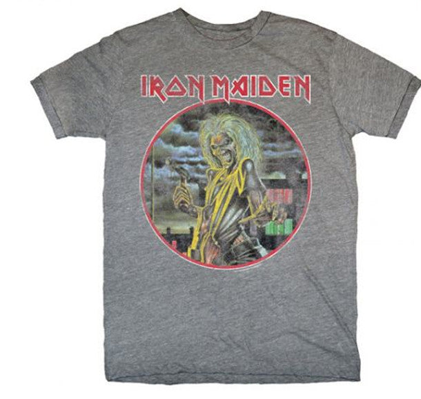 Iron Maiden Killers-Heather Grey Lightweight -t-shirt