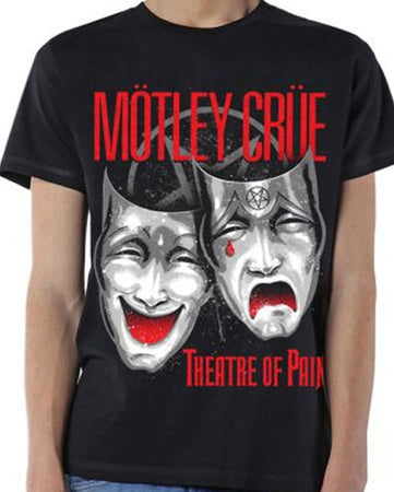 Motley Crue Theater Of Pain Cry Black T-shirt