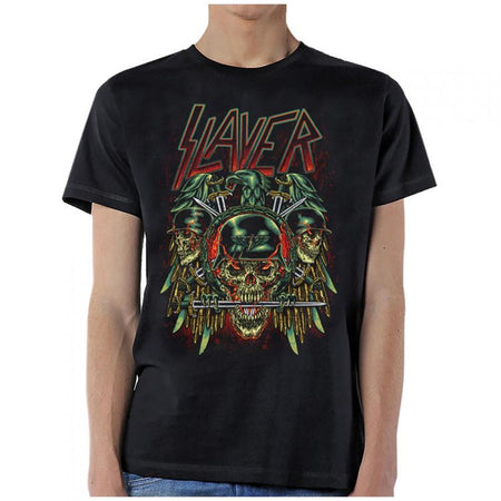 Slayer-Prey with Background-Black T-shirt