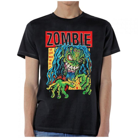 Rob Zombie-The Devil Made Me Do It-Black T-shirt