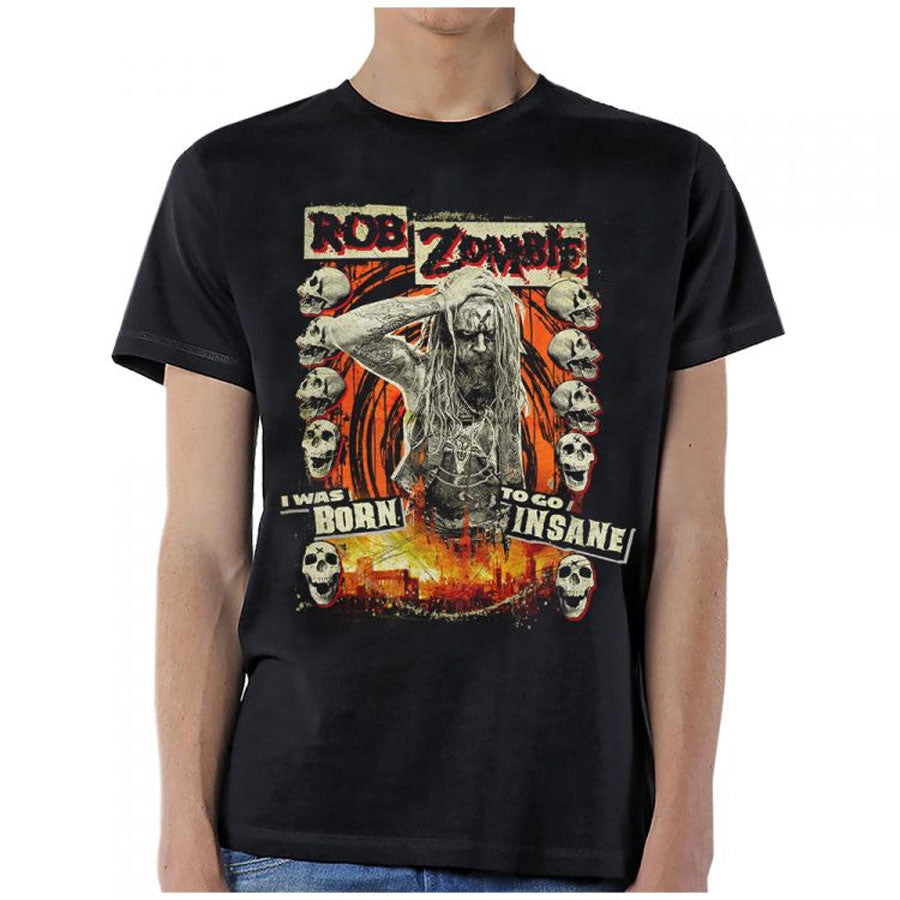 Rob Zombie-Born Insane-Black T-shirt