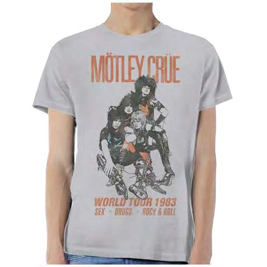 Motley Crue - Vintage World Tour 83 - Silver Lightweight t-shirt