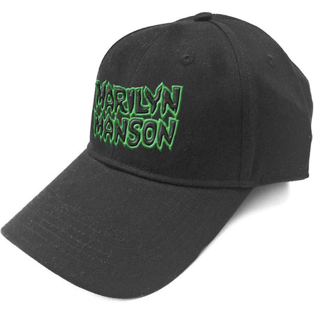 Marilyn Manson-Embroidered Logo-Black OSFA Baseball Cap