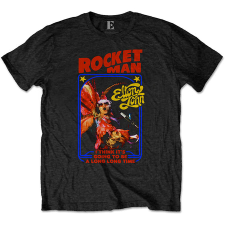 Elton John - Rocketman Feather Suit - Black t-shirt
