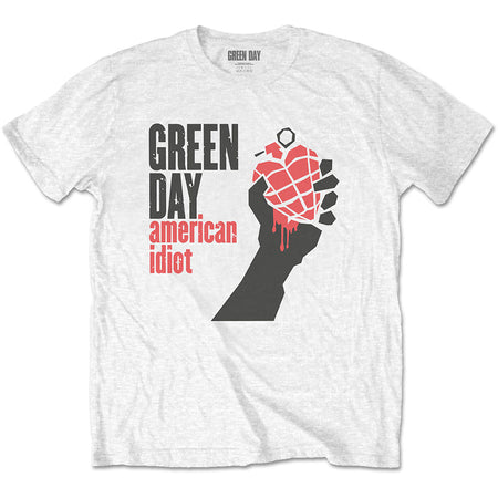 Green Day. - American Idiot - White  T-shirt
