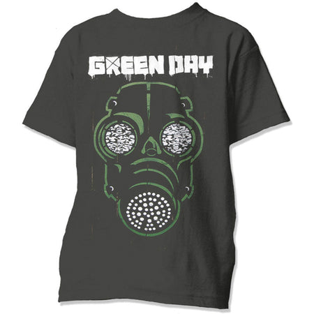 Green Day. - Green Mask - Black  T-shirt