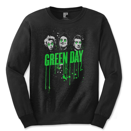 Green Day. - Drips - Longsleeve Black T-shirt