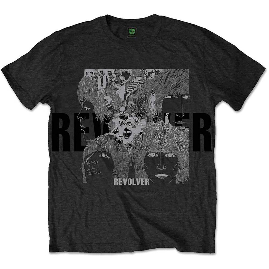 The Beatles-Reverse Revolver with Foil Application-Black T-shirt