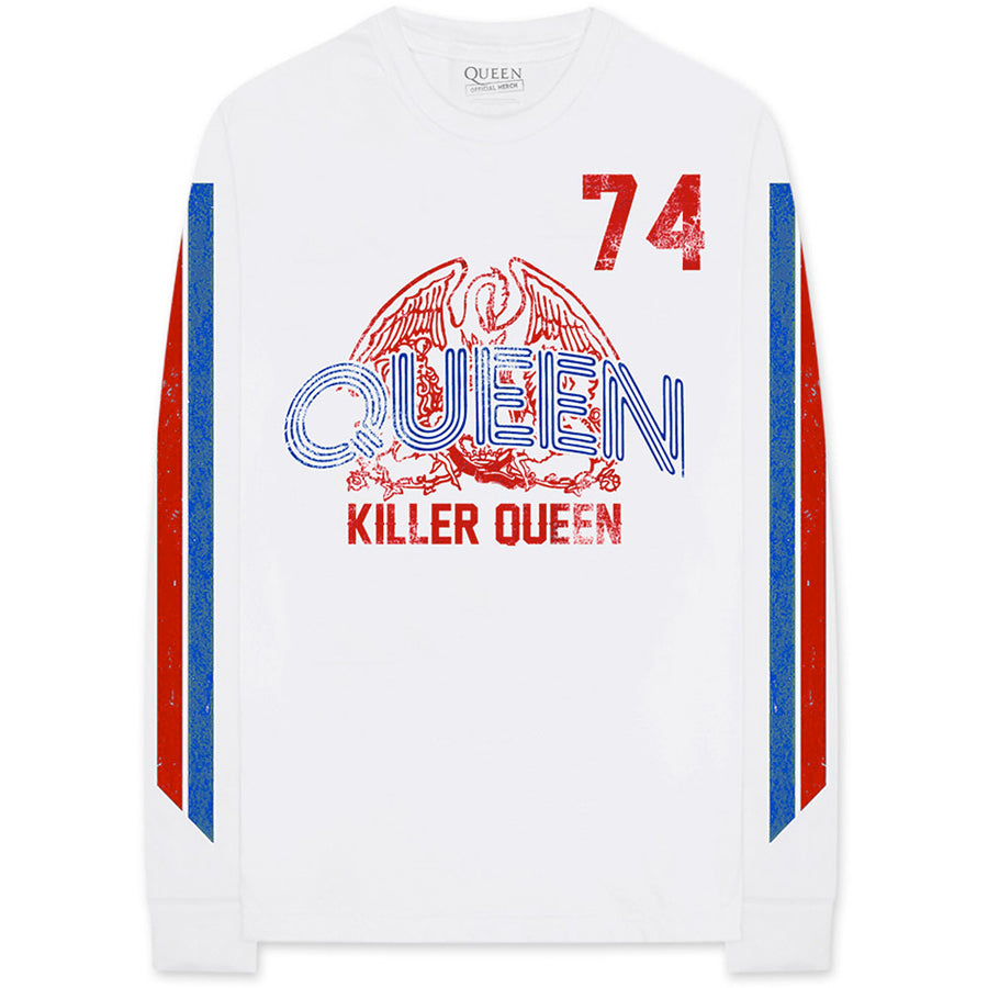 Queen - Killer Queen 74 - Longsleeve White t-shirt