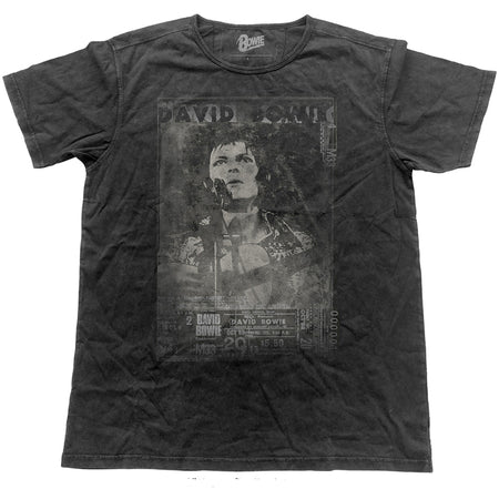 David Bowie - Vintage Live -Black Label Designer Black t-shirt