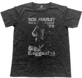 Bob Marley - -Hawaii-Vintage Live -Black Label Designer Black t-shirt
