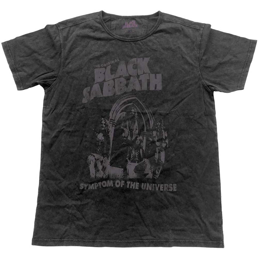 Black Sabbath - Vintage Symptom Of The Universe  -Black Label Designer Black t-shirt