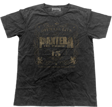 Pantera - Vintage 101 Proof - Black Label Designer Black t-shirt