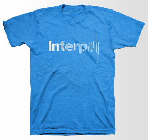 Interpol-Disruption Blue Slimfit t-shirt