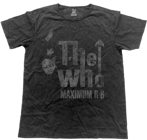 The Who - Vintage Maximum R&B  - Black Label Designer Black t-shirt