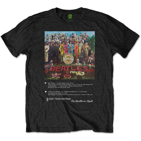 The Beatles - 8 Track Collection-Sgt Pepper - Black t-shirt