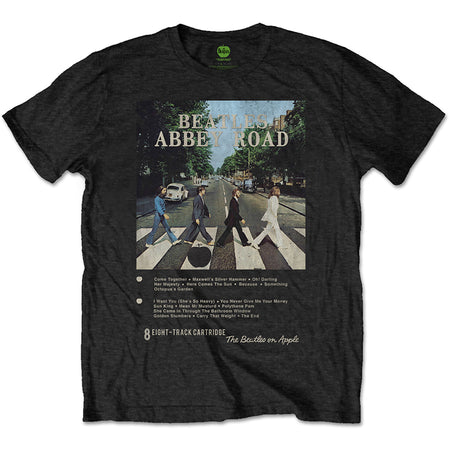 The Beatles - 8 Track Collection-Abbey Road - Black t-shirt