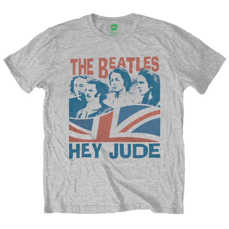 The Beatles - Hey Jude-Windswept-Heather Grey t-shirt