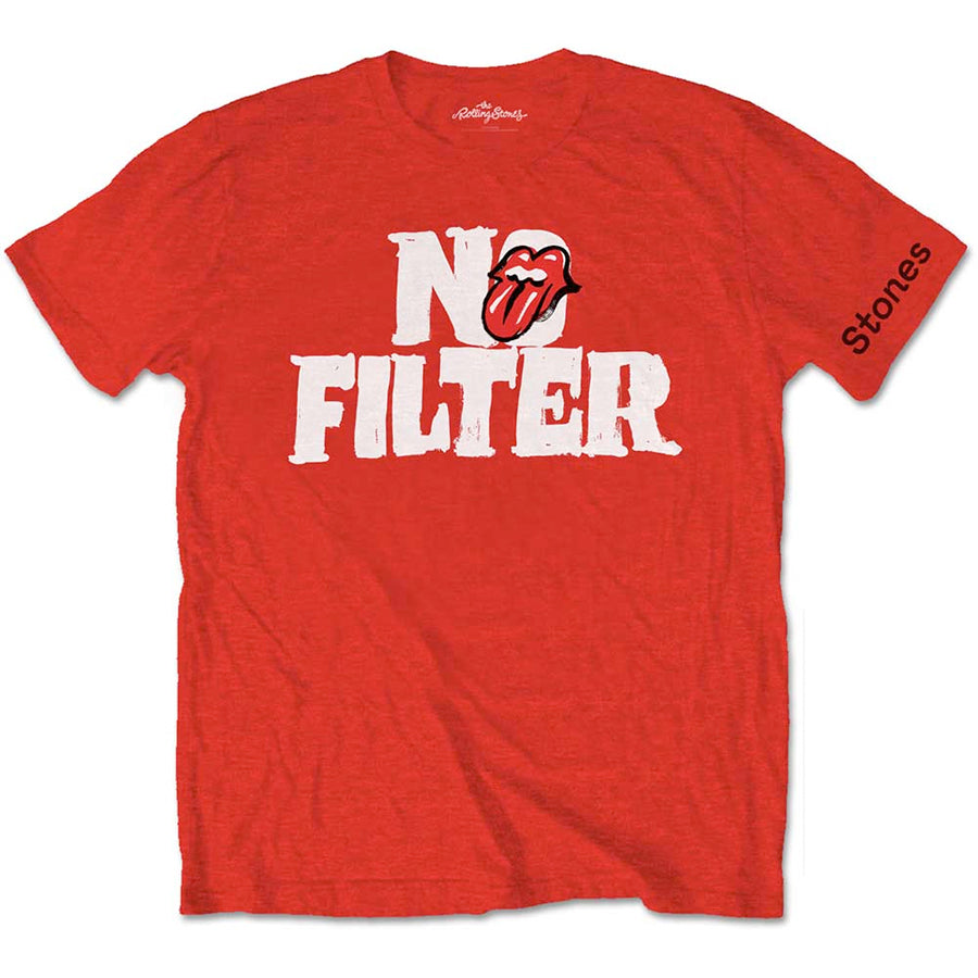 The Rolling Stones - No Filter Logo - Red T-shirt
