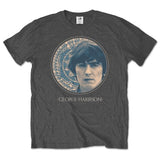 George Harrison - Circular Portrait - Charcoal Grey t-shirt