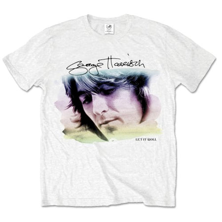 George Harrison - Water Color Portrait - White t-shirt