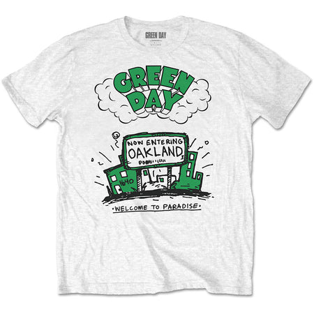 Green Day. - Welcome To Paradise - White T-shirt