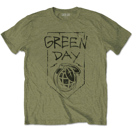Green Day. - Organic Grenade - Military Green T-shirt
