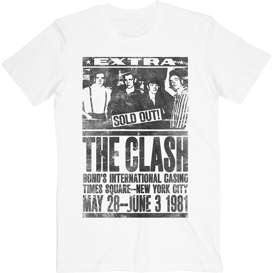 The Clash - Bond's 1981 - White  t-shirt