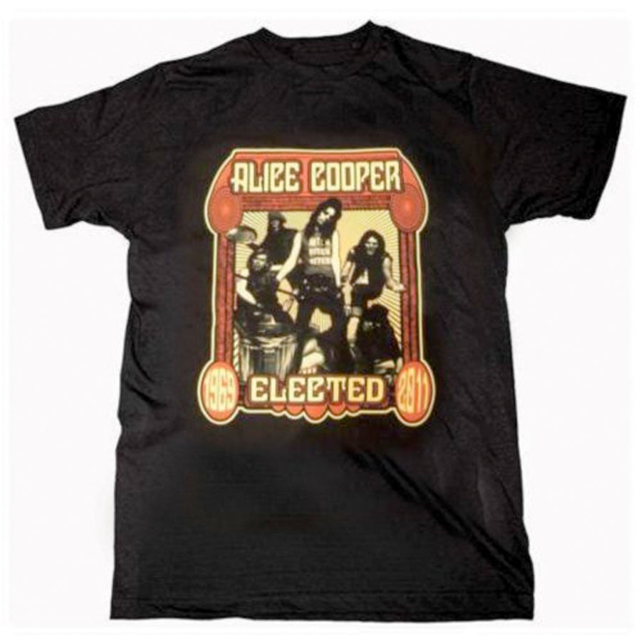 Alice Cooper - Elected Band - Black  t-shirt