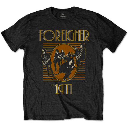 Foreigner - Established 1977 - Black T-shirt