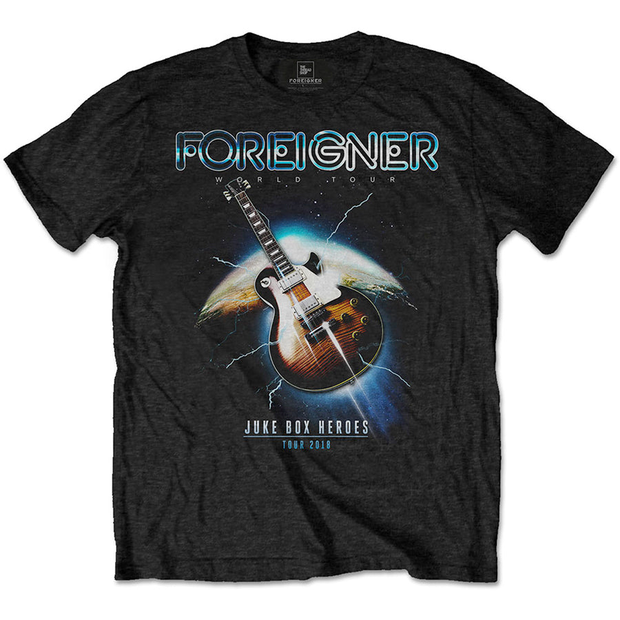 Foreigner - Juke Box Heroes - Black T-shirt