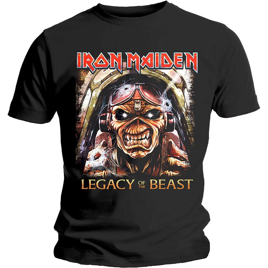 Iron Maiden - Legacy Aces - Black T-shirt