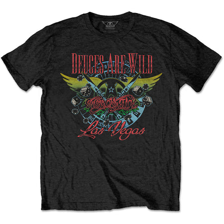 Aerosmith - Deuces Are Wild-Vegas - Black T-shirt