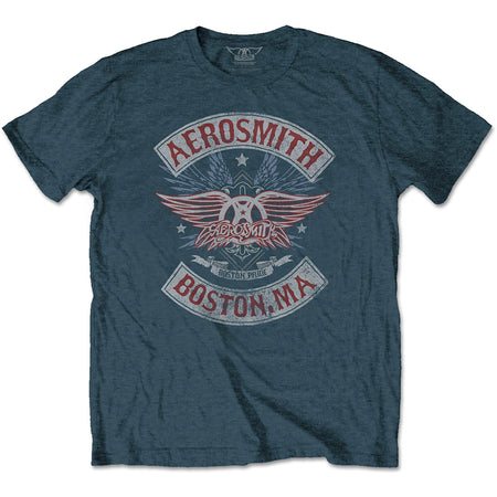 Aerosmith - Boston Pride - Denim Blue T-shirt