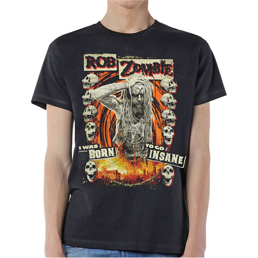 Rob Zombie - Born To Go Insane - Black T-shirt