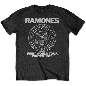 The Ramones - First World Tour 1978 - Black  T-shirt