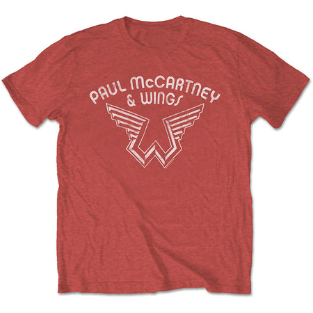 Paul McCartney - Wings Logo - Red T-shirt