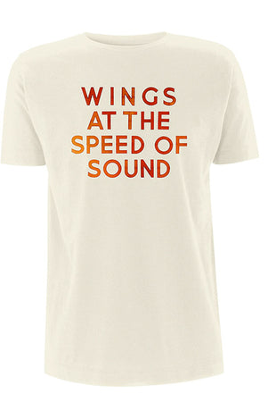 Paul McCartney - Wings At The Speed Of Sound - Sand T-shirt