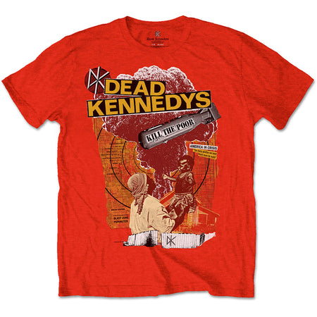 Dead Kennedys - Kill The Poor - Red t-shirt