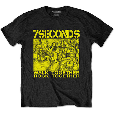7 Seconds - Walk Together Rock Together - Black t-shirt