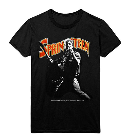 Bruce Springsteen - Winterland Ballroom Singing - Black T-shirt