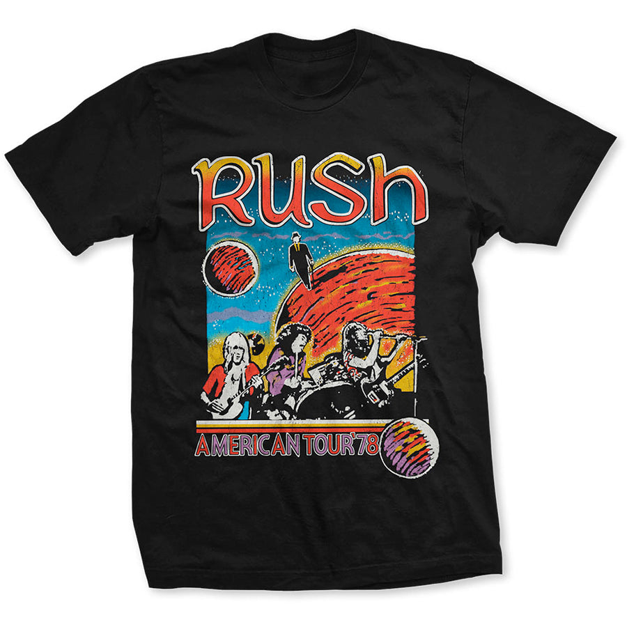 Rush - US Tour 1978 - Black  T-shirt