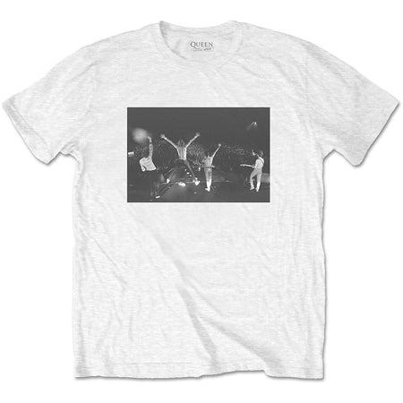 Queen - Crowd Shot - White  t-shirt